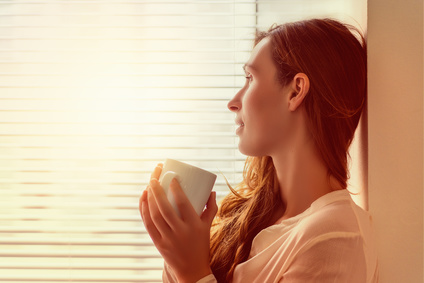 woman at break recovering from stress